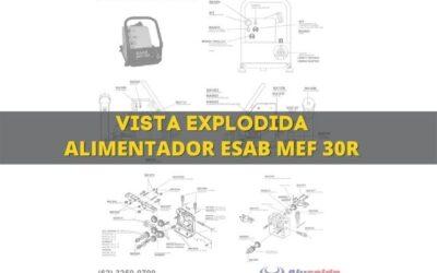Alimentador de arame mig Mef 30R e vista explodida de peças